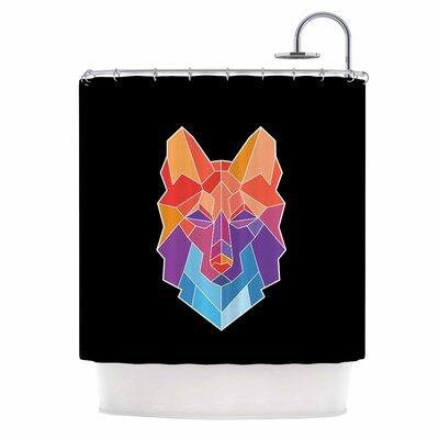 Draper Prism Wolf Shower Curtain