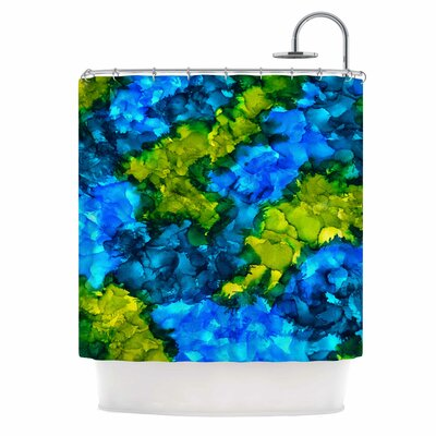 Claire Day Islands Abstract Shower Curtain