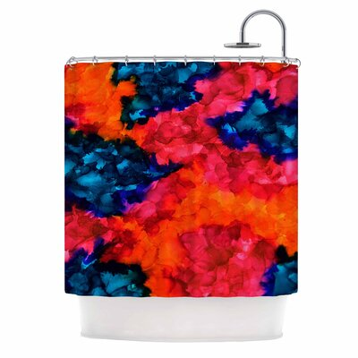 Claire Day Jaded Abstract Shower Curtain