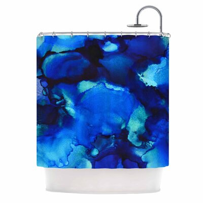 Claire Day Mountain Stream Abstract Shower Curtain