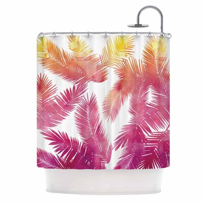 Draper Tropic Love Abstract Shower Curtain