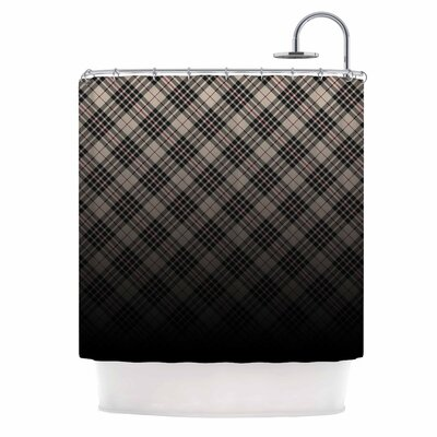 Draper Grunge Digital Shower Curtain