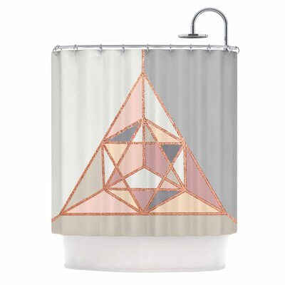 Draper Geometry Pastel Digital Shower Curtain