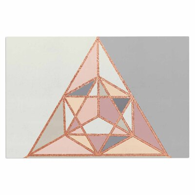 Draper Rose Geometry Pastel Digital Doormat