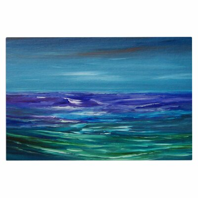 Cyndi Steen Moonlit Waves Doormat