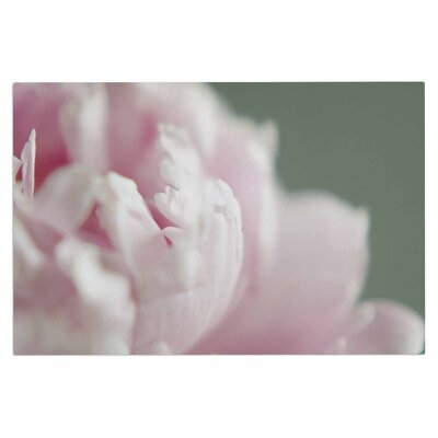 Cristina Mitchell A Single Peony Floral Photography Doormat
