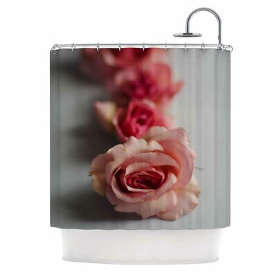 Cristina Mitchell Row of Roses Floral Photography Shower Curtain