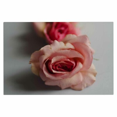 Cristina Mitchell Row of Roses Floral Photography Doormat