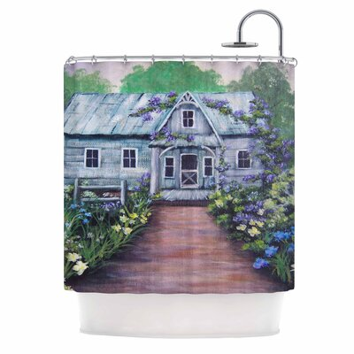 Cyndi Steen Ivy Cottage Again Shower Curtain