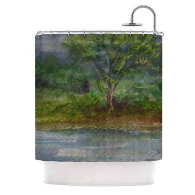 Cyndi Steen Storm on the Pond Shower Curtain