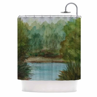 Cyndi Steen Lake Channel Shower Curtain