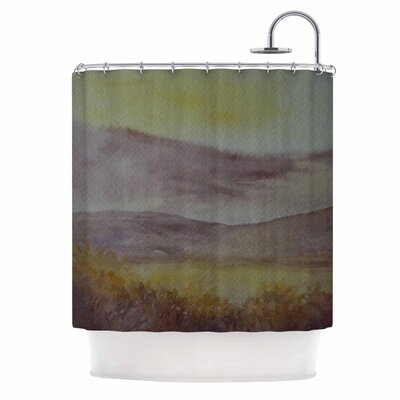 Cyndi Steen Mauve Sunset Shower Curtain