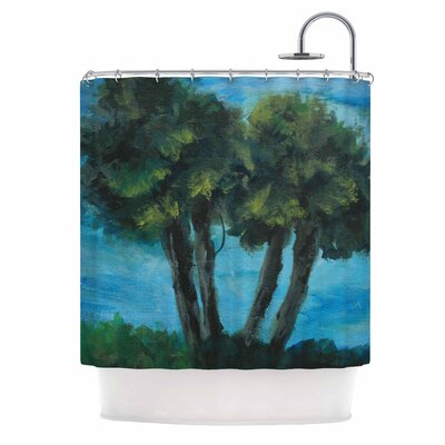 Cyndi Steen Twin Palms Shower Curtain