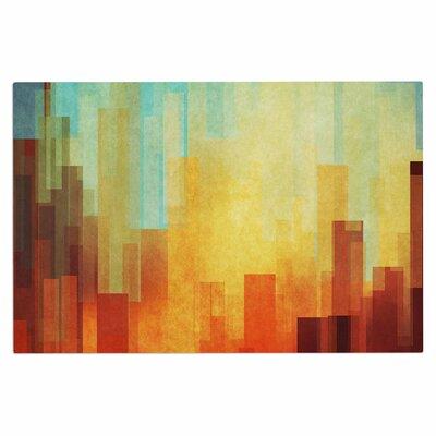 Cvetelina Todorova Urban Sunset Geometric Doormat