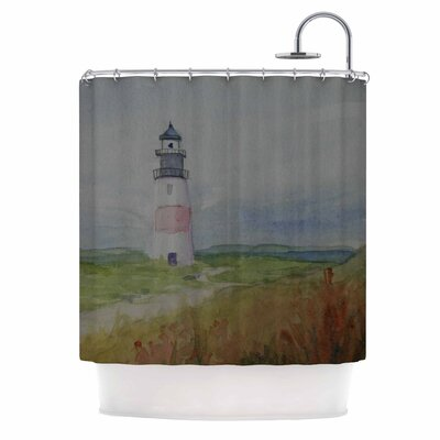 Cyndi Steen Sankaty Lighthouse Shower Curtain