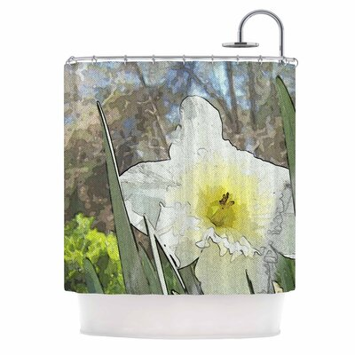 Cyndi Steen Daffodil Shower Curtain