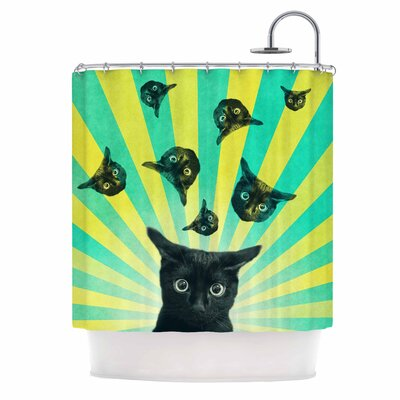 Cvetelina Todorova Cat Explosion Shower Curtain