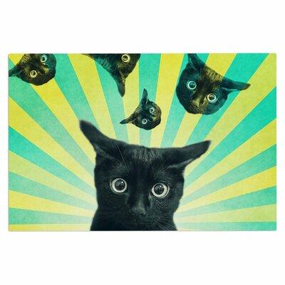 Cvetelina Todorova Cat Explosion Doormat
