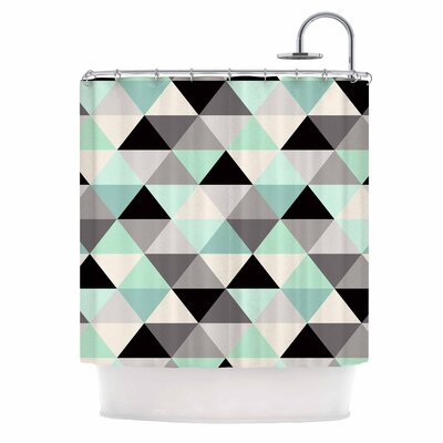 Crystal Walen Triangle Geo Mint Shower Curtain