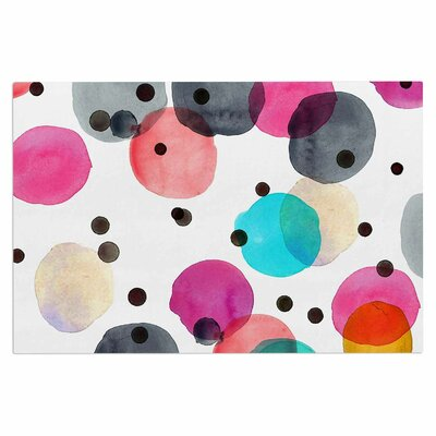 Crystal Walen Festive Watercolor Dots Doormat