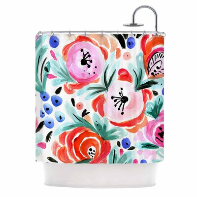 Crystal Walen Boho Morning Glory Shower Curtain