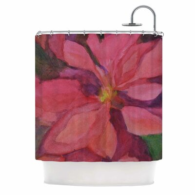 Cyndi Steen Cool Poinsettias Shower Curtain