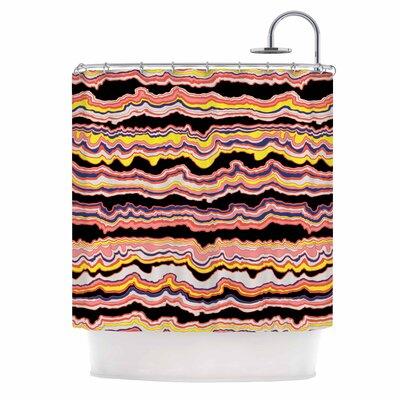 DLKG Expressive Lines Illustration Shower Curtain