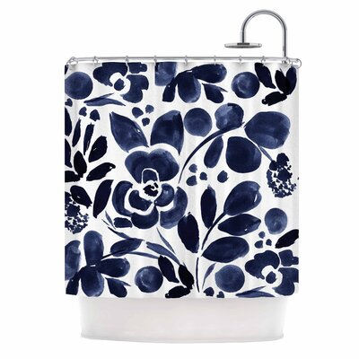 Crystal Walen Watercolor Floral Shower Curtain