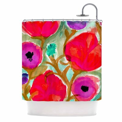 Crystal Walen Fiona Flower Shower Curtain
