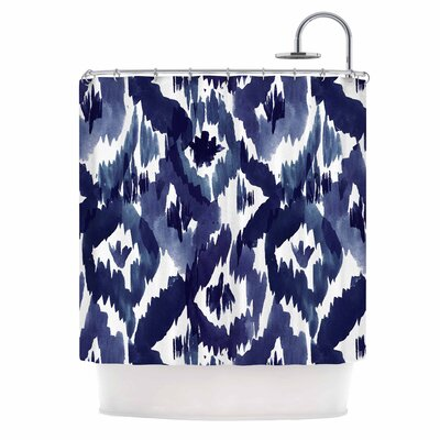 Crystal Walen indigo Ikat Shower Curtain