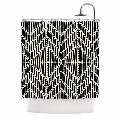 DLKG Tribal Drawings Shower Curtain