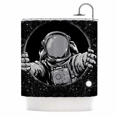 Digital Carbine Black Hole Shower Curtain