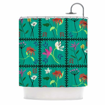 DLKG Simple Garden Tiles Shower Curtain