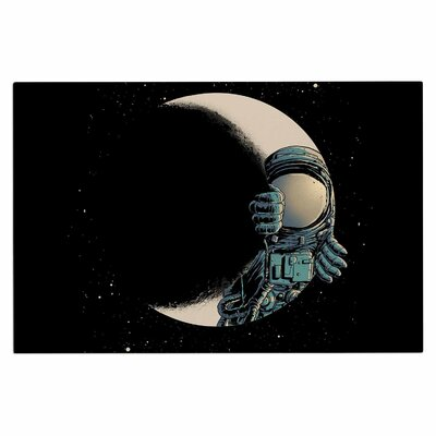 Digital Carbine Crescent Moon Illustration Doormat
