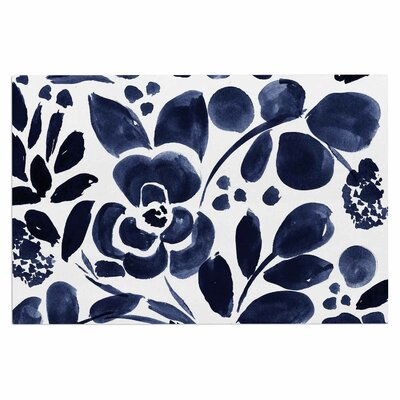 Crystal Walen Watercolor Floral Doormat