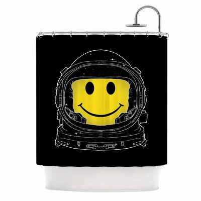Digital Carbine Happiness Shower Curtain