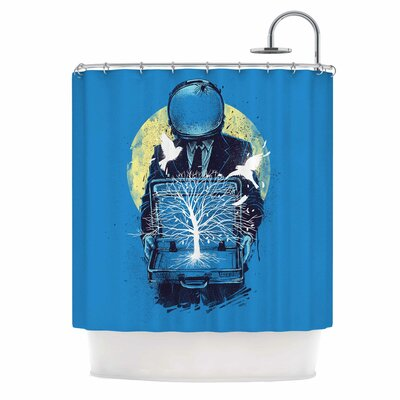 Digital Carbine a New Life Illustration Shower Curtain