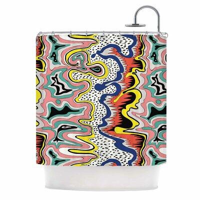 DLKG Modern Expression Abstract Illustraion Shower Curtain
