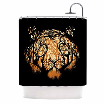 Digital Carbine Hidden Hunter Illustration Shower Curtain