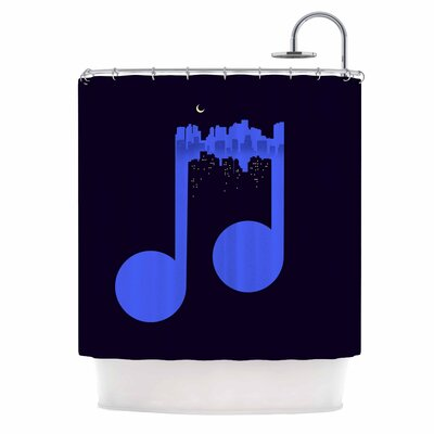 Digital Carbine Night Music Illustration Shower Curtain