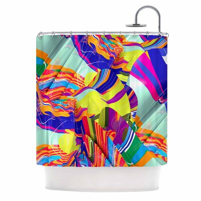 Danny Ivan To Swim Abstract Shower Curtain
