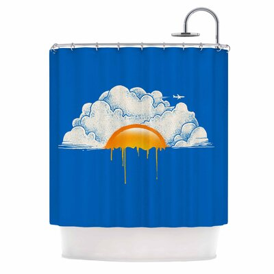 Digital Carbine Breakfast Shower Curtain