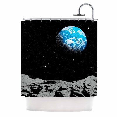 Digital Carbine From the Moon Shower Curtain