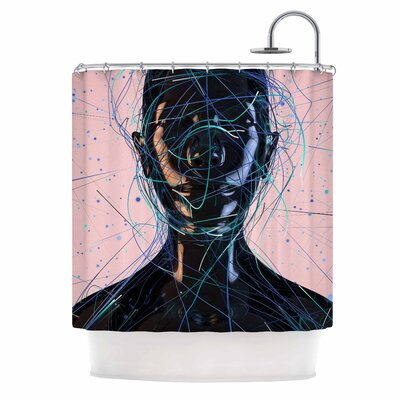 Danny Ivan Calm Woman Shower Curtain