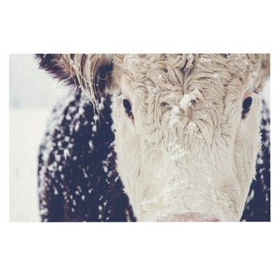 Debbra Obertanec Snowy Cow Doormat