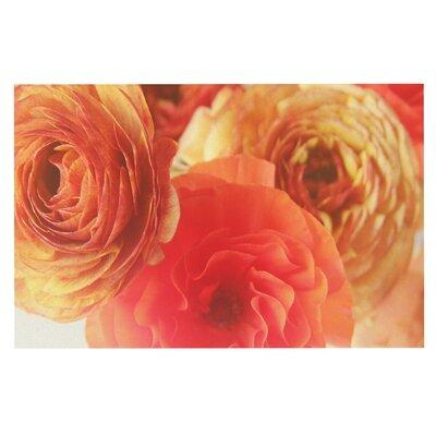 Debbra Obertanec Ranunculus Floral Doormat