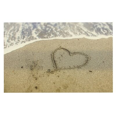 Debbra Obertanec Beach Heart Sand Coastal Doormat