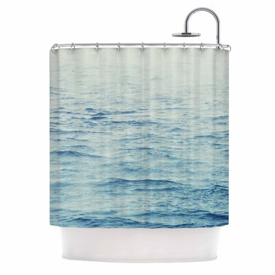 Debbra Obertanec Foggy Morning Ocean Coastal Shower Curtain