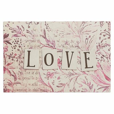 Debbra Obertanec Simply Love Typography Doormat