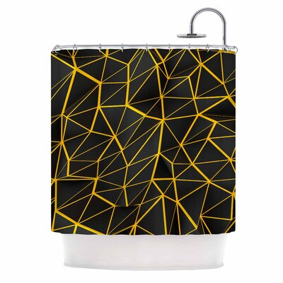 Danny Ivan Yellow Poly Shower Curtain